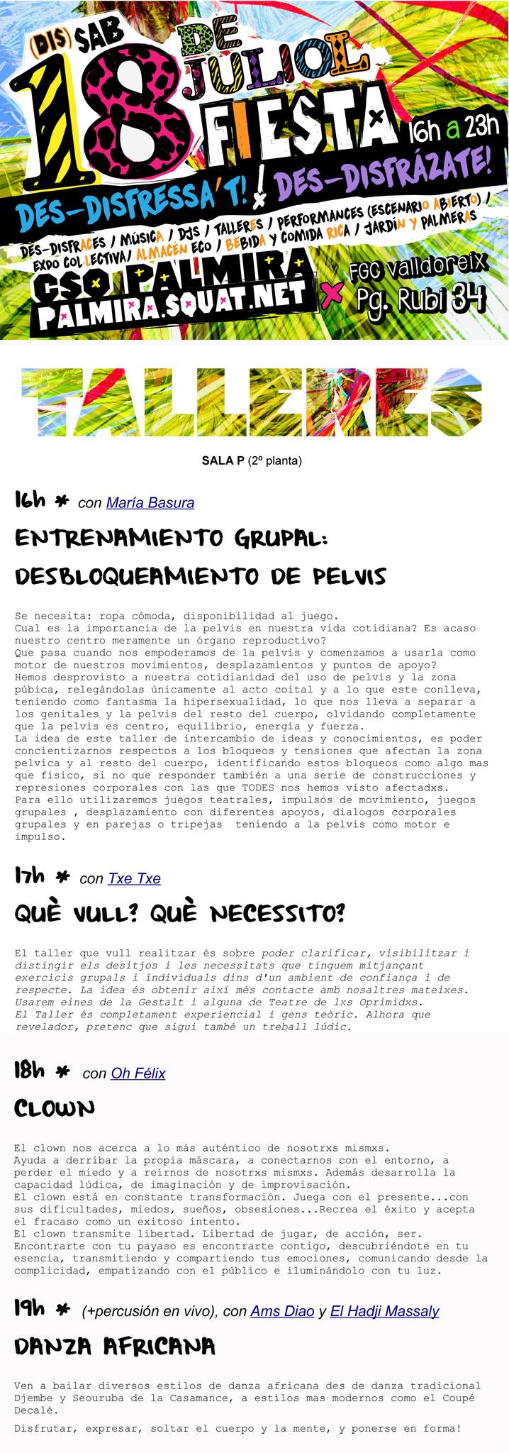 TALLERES_FESTA DES- DISFRESSAT